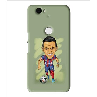 Snooky Printed Hara ke Dikha Mobile Back Cover For Huawei Nexus 6P - Multi