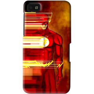 Snooky Printed Electric Man Mobile Back Cover For Blackberry Z10 - Multi