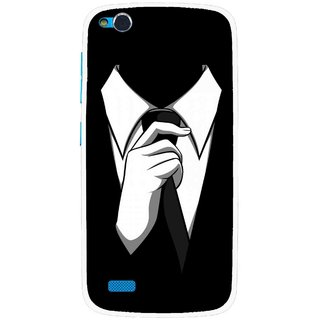 Snooky Printed White Collar Mobile Back Cover For Gionee Elife E3 - Multi