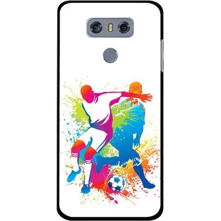 Snooky Printed Footbal Mania Mobile Back Cover For LG G6 - Multi
