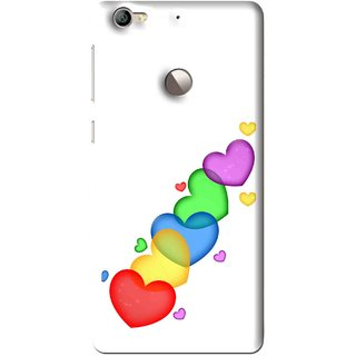 Snooky Printed Colorfull Hearts Mobile Back Cover For Letv Le 1S - Multi