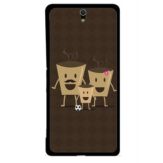 Snooky Printed Wake Up Coffee Mobile Back Cover For Sony Xperia C5 - Multicolour