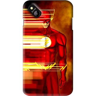 Snooky Printed Electric Man Mobile Back Cover For Micromax Bolt D303 - Multi