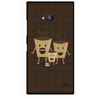 Snooky Printed Wake Up Coffee Mobile Back Cover For Nokia Lumia 730 - Multicolour