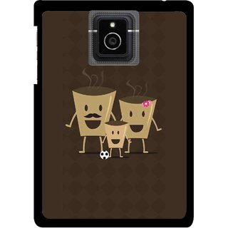 Snooky Printed Wake Up Coffee Mobile Back Cover For Blackberry Passport - Multicolour