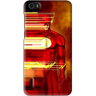 Snooky Printed Electric Man Mobile Back Cover For Huawei Honor 6 - Multi
