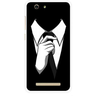 Snooky Printed White Collar Mobile Back Cover For Gionee F103 pro - Multi