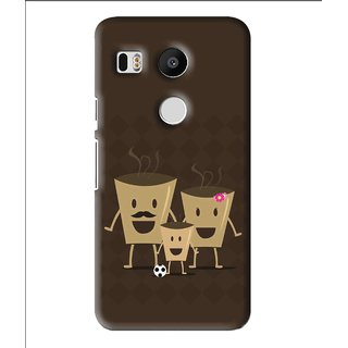 Snooky Printed Wake Up Coffee Mobile Back Cover For Lg Google Nexus 5X - Multi