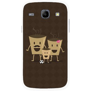 Snooky Printed Wake Up Coffee Mobile Back Cover For Samsung Galaxy Core - Multicolour