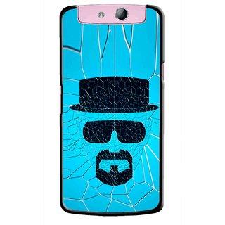 Snooky Printed Beard Man Mobile Back Cover For Oppo N1 - Multicolour
