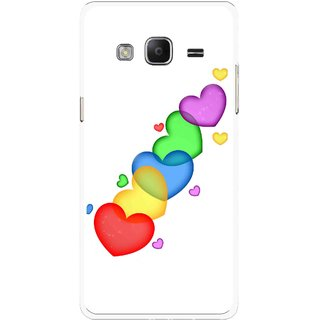 Snooky Printed Colorfull Hearts Mobile Back Cover For Samsung Tizen Z3 - Multicolour