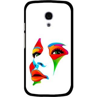 Snooky Printed Modern Girl Mobile Back Cover For Moto G2 - Multi