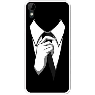 Snooky Printed White Collar Mobile Back Cover For HTC Desire 825 - Multi