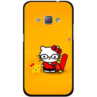 Snooky Printed Kitty Study Mobile Back Cover For Samsung Galaxy J1 - Multicolour