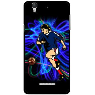 Snooky Printed Football Passion Mobile Back Cover For Micromax YU YUREKA - Multi