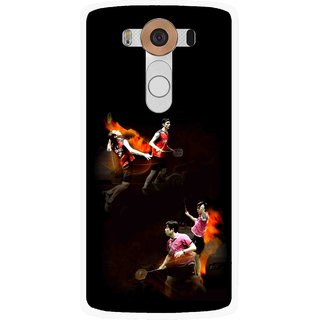 Snooky Printed Sports Player Mobile Back Cover For Lg V10 - Multi