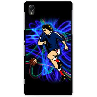 Snooky Printed Football Passion Mobile Back Cover For Sony Xperia Z1 - Multi
