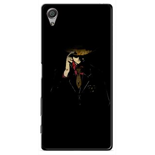 Snooky Printed Cow Bow Mobile Back Cover For Sony Xperia X - Multicolour