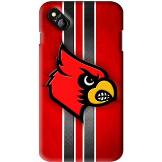 Snooky Printed Red Eagle Mobile Back Cover For Micromax Bolt D303 - Multi