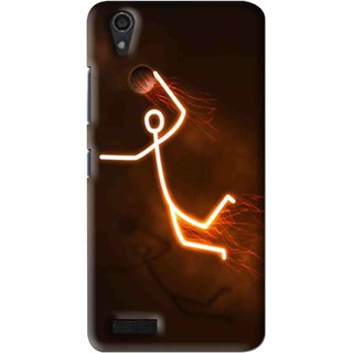 Snooky Printed Burning Man Mobile Back Cover For Lenovo A3900 - Multi