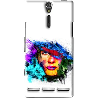 Snooky Printed Dashing Girl Mobile Back Cover For Sony Xperia S - Multi