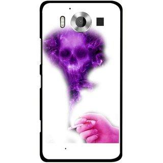Snooky Printed Danger Mobile Back Cover For Microsoft Lumia 950 - Multicolour