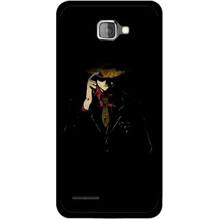Snooky Printed Cow Bow Mobile Back Cover For Micromax Canvas Mad A94 - Multicolour