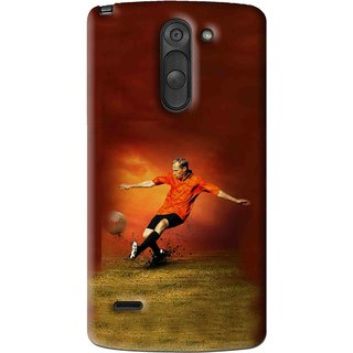 Snooky Printed Football Mania Mobile Back Cover For Lg G3 Stylus - Multi