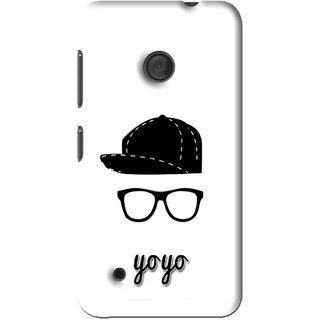 Snooky Printed Yo Yo Mobile Back Cover For Nokia Lumia 530 - Multi