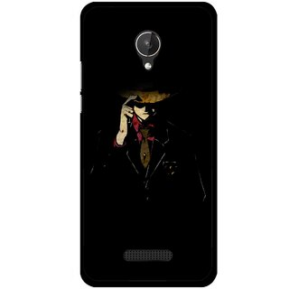 Snooky Printed Cow Bow Mobile Back Cover For Micromax Canvas Spark Q380 - Multicolour