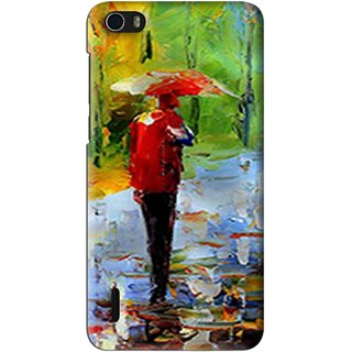 Snooky Printed Painting Mobile Back Cover For Huawei Honor 6 - Multi