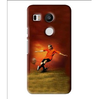 Snooky Printed Football Mania Mobile Back Cover For Lg Google Nexus 5X - Multi