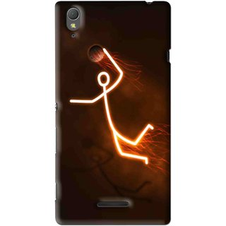 Snooky Printed Burning Man Mobile Back Cover For Sony Xperia T3 - Multi