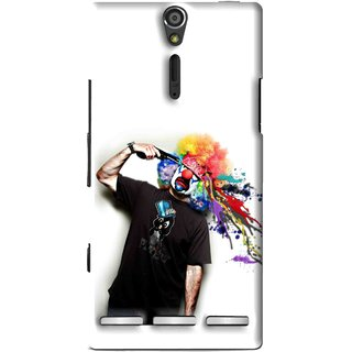 Snooky Printed Shooting Joker Mobile Back Cover For Sony Xperia S - Multi