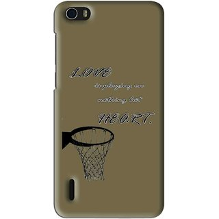Snooky Printed Heart Games Mobile Back Cover For Huawei Honor 6 - Multi