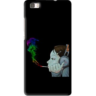 Snooky Printed Color Of Smoke Mobile Back Cover For Huawei Ascend P8 Lite - Multi