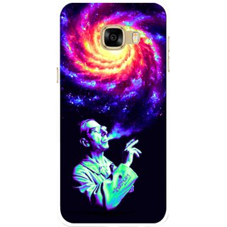 Snooky Printed Universe Mobile Back Cover For Samsung Galaxy C7 - Multicolour