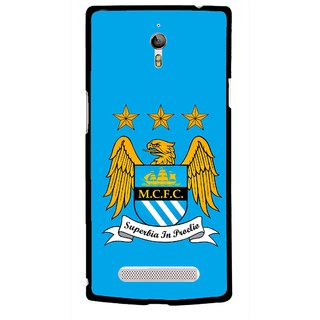 Snooky Printed Eagle Logo Mobile Back Cover For Oppo Find 7 - Multicolour