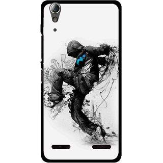 Snooky Printed Enjoying Life Mobile Back Cover For Lenovo A6000 Plus - Multi