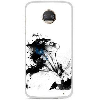 Snooky Printed Super Hero Mobile Back Cover For Motorola Moto Z2 Play - Multicolour