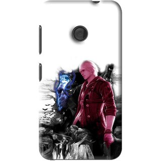 Snooky Printed Fighter Boy Mobile Back Cover For Nokia Lumia 530 - Multi
