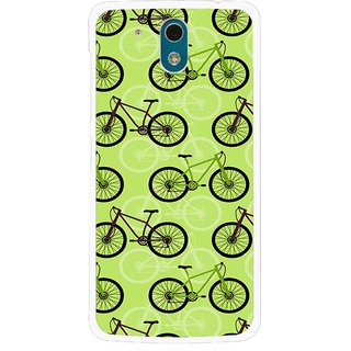 Snooky Printed Cycle Mobile Back Cover For HTC Desire 326G - Green