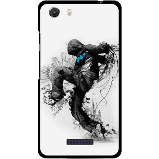 Snooky Printed Enjoying Life Mobile Back Cover For Micromax Canvas Unite 3 - Multi