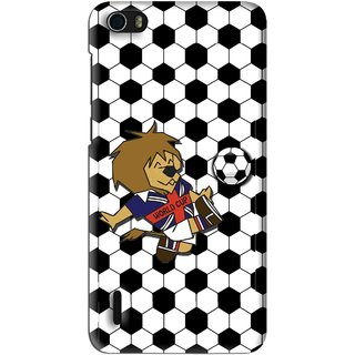 Snooky Printed Football Cup Mobile Back Cover For Huawei Honor 6 - Multi