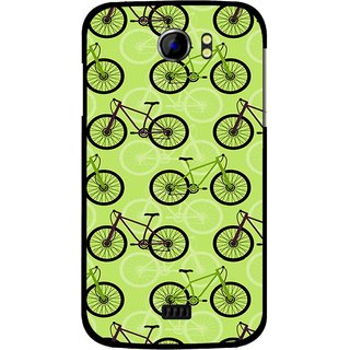 Snooky Printed Cycle Mobile Back Cover For Micromax Canvas 2 A110 - Green