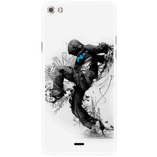 Snooky Printed Enjoying Life Mobile Back Cover For Micromax Canvas Sliver 5 Q450 - Multi