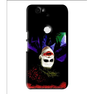 Snooky Printed Hanging Joker Mobile Back Cover For Huawei Nexus 6P - Multi