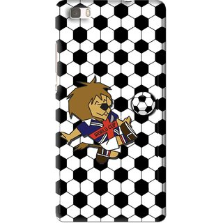 Snooky Printed Football Cup Mobile Back Cover For Huawei Ascend P8 Lite - Multi