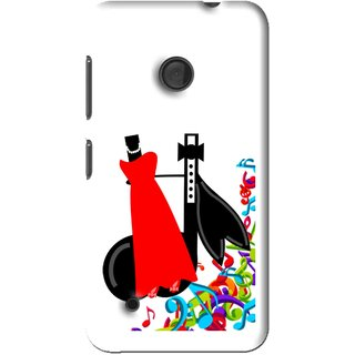 Snooky Printed Fashion Mobile Back Cover For Nokia Lumia 530 - Multi