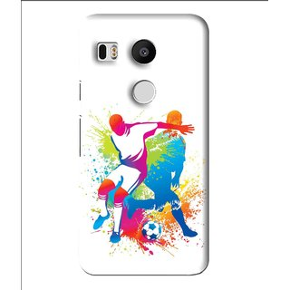 Snooky Printed Footbal Mania Mobile Back Cover For Lg Google Nexus 5X - Multi